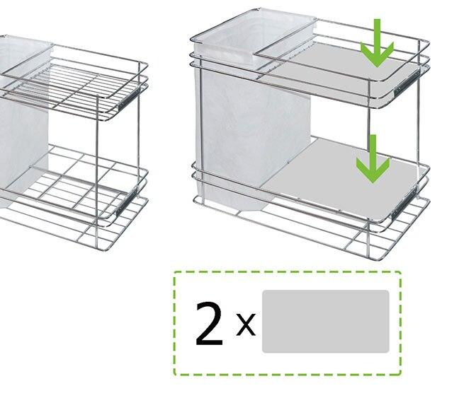 Base de pl stico para accesorio extra ble panero de 30 cm for Accesorio extraible mueble cocina