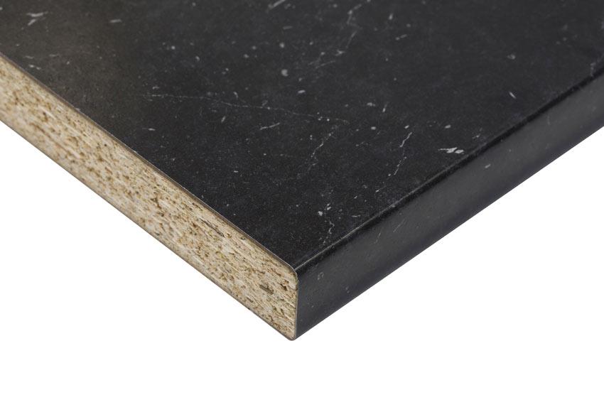 Encimera laminada m rmol negro zeus ref 19672310 leroy for Encimera de marmol precio