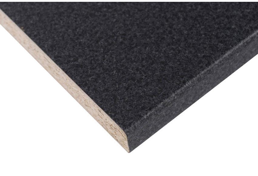 Encimera laminada negro granito noche f 282 ref 19678141 for Encimeras granito leroy merlin