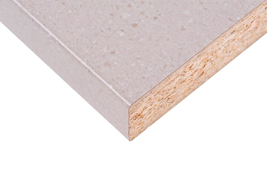 Encimera beige granito aus 684 br ref 17544814 leroy merlin for Encimeras granito leroy merlin