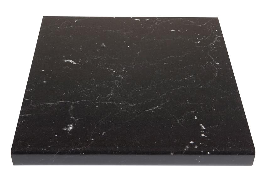 Encimera marmol negro marquina ref 16578835 leroy merlin for Marmol negro marquina