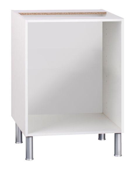 Bajo horno 70 16 x 60 blanco basic cocina gris ref for Mueble horno leroy merlin