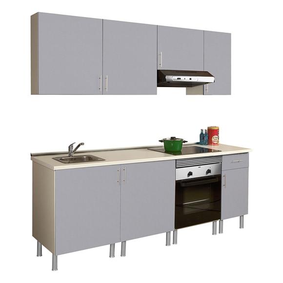 Cocina gris leroy merlin for Muebles de cocina baratos precios