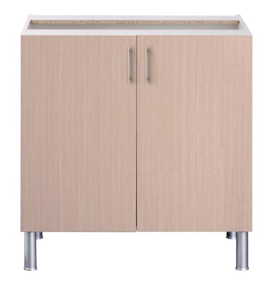 Bajo fregadero basic 70 16 x 80 roble basic cocina roble for Precio montaje cocina leroy merlin