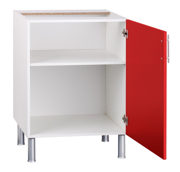 Bajo fregadero 70 16 x 60 basic cocina rojo ref 16462502 for Modulos cocina leroy