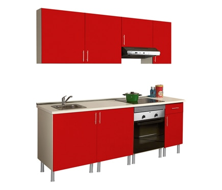 Cocina rojo leroy merlin for Leroy merlin cocinas electrodomesticos
