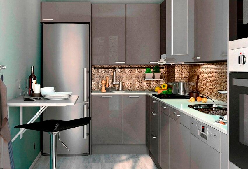 Cocina delinia new york gris ref 16988090 leroy merlin for Cocinas delinia