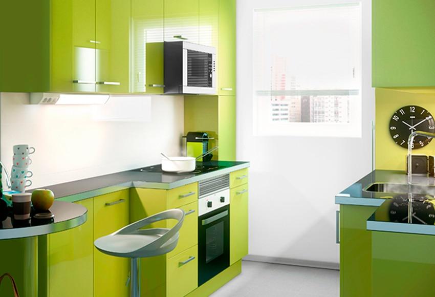 Cocina delinia new york verde ref 16988146 leroy merlin for Leroy merlin cocinas electrodomesticos