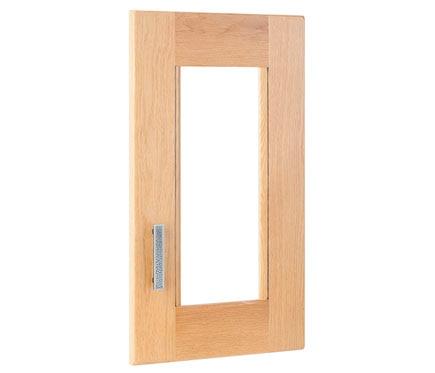 Puerta de vitrina delinia aspen natural ref 13311480 for Vitrinas leroy merlin