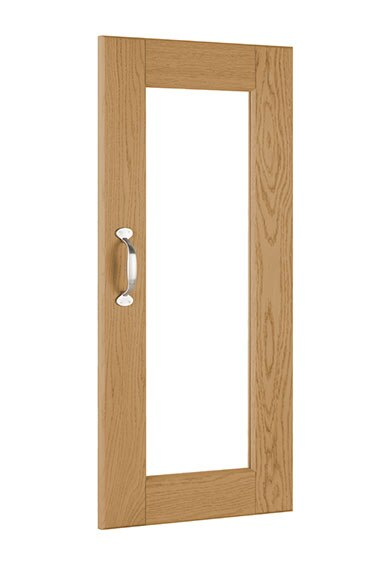 Puerta de vitrina delinia bari roble claro ref 16869433 for Vitrinas leroy merlin