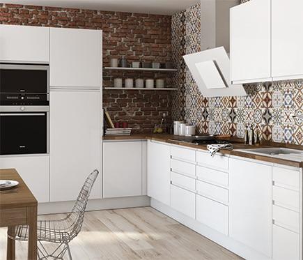 Bonito cocinas blancas brillo fotos cocinas valencia - Comodas blancas leroy merlin ...