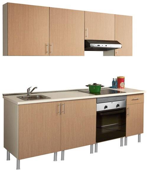 Composici n de cocina roble basic de 2 20 metros ref for Modulos cocina leroy merlin