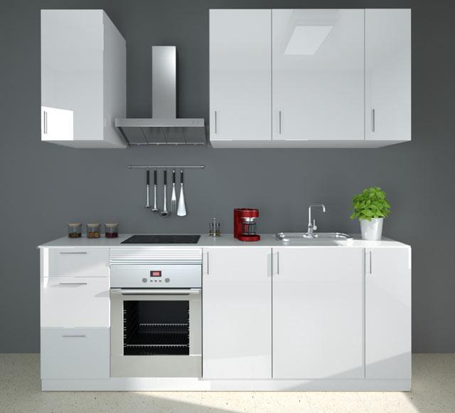 Composición de cocina DELINIA GALAXY BLANCO DE 2,40 METROS Ref ...