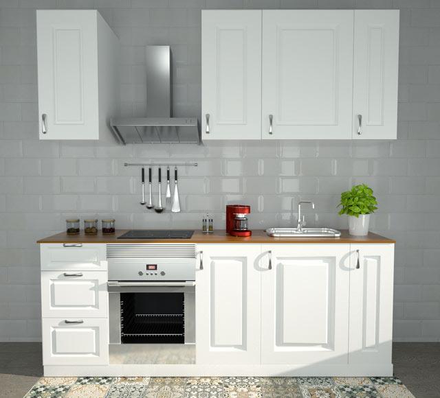 Composici n de cocina delinia gales de 2 40 metros ref for Separadores cajones cocina leroy merlin