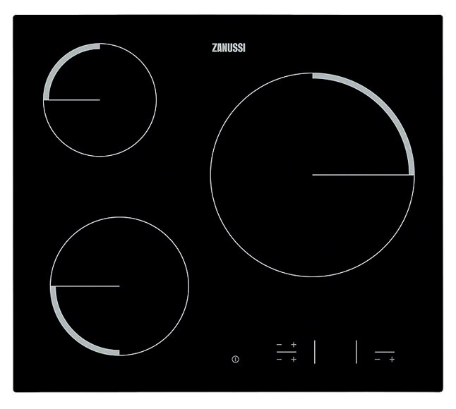 Vitrocer mica zanussi zev6330fba ref 19479376 leroy merlin for Placas de cocina de gas leroy merlin