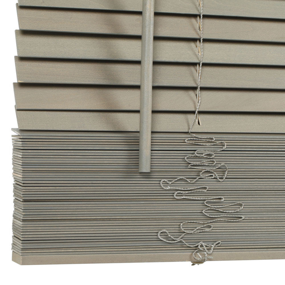 Veneciana de 80 x 250 cm inspire madera 27mm gris ref - Tablon madera leroy merlin ...