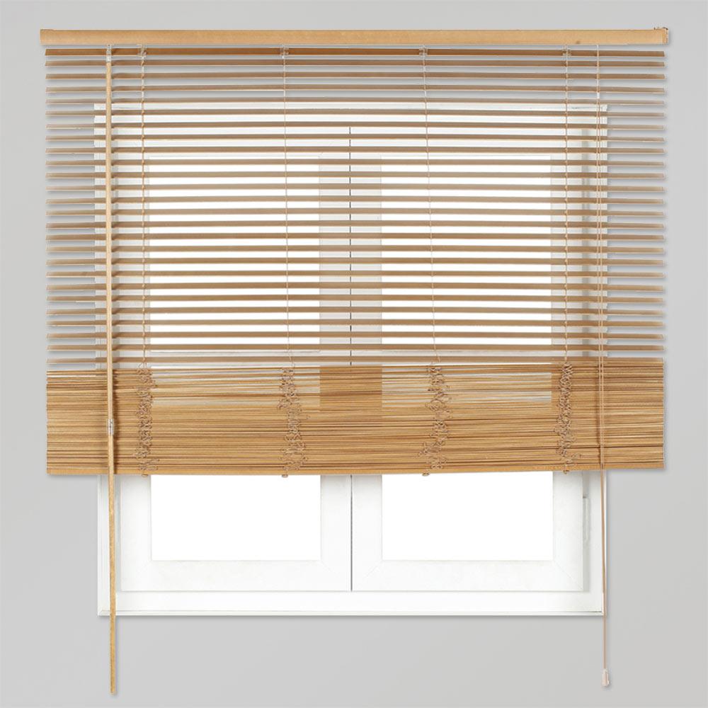 Veneciana de 100 x 150 cm inspire madera 27mm roble dorado - Persianas alicantinas leroy merlin ...