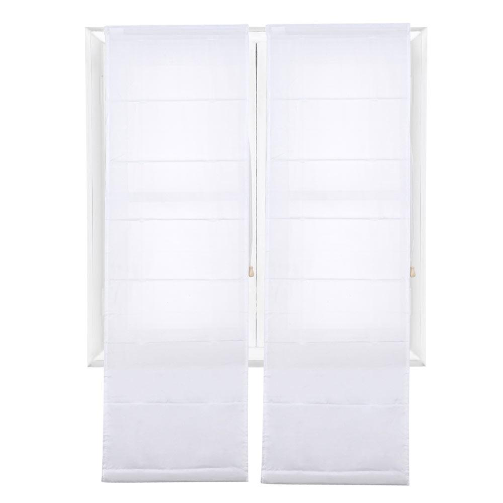 estor plegable 87 x 150 cm easy voile blanco ref 17478104 leroy merlin. Black Bedroom Furniture Sets. Home Design Ideas