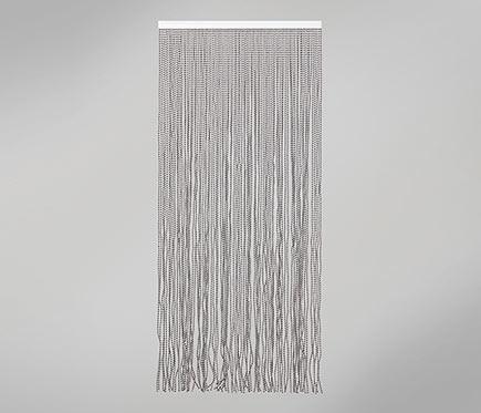 Cortina de puerta laos blanco y negro ref 16718996 - Cortinas en blanco y negro ...