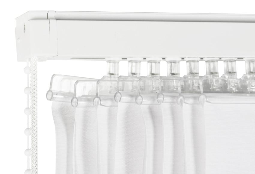 Kit de riel y cortinas kit lamas verticales ref 16715545 for Enganches de cortinas