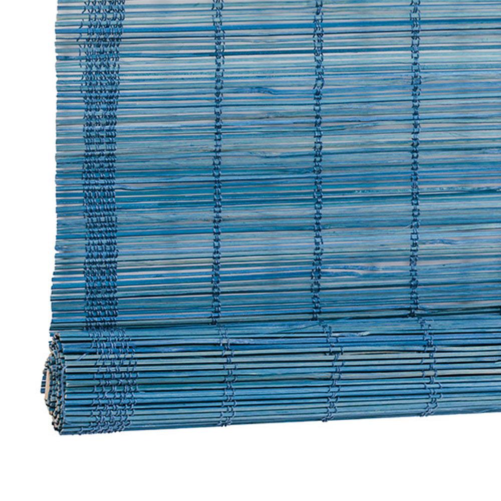 Estor enrollable bamb inspire azul ref 16097256 leroy - Estores bambu leroy merlin ...