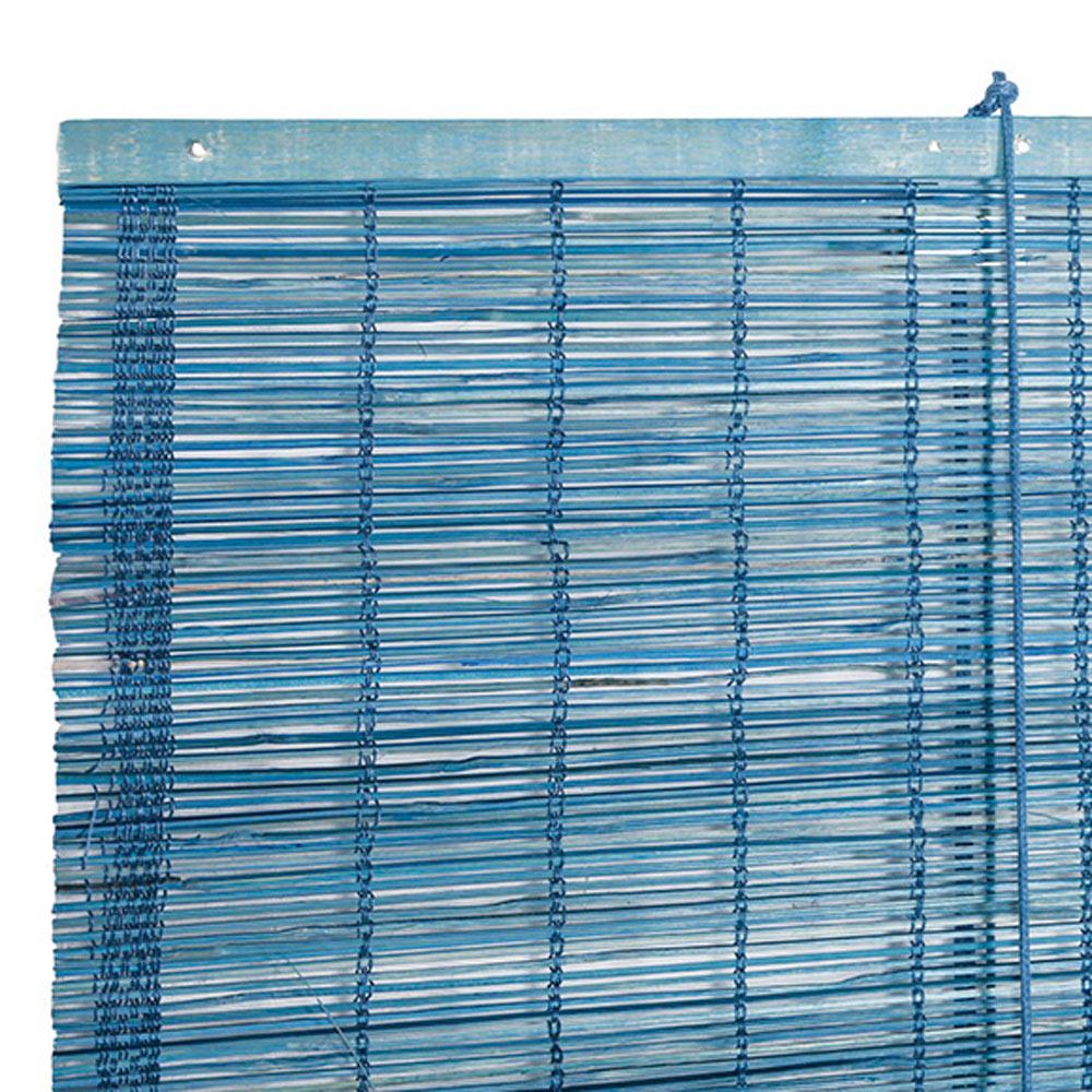 Estor enrollable bamb inspire azul ref 16097270 leroy - Estores bambu leroy merlin ...