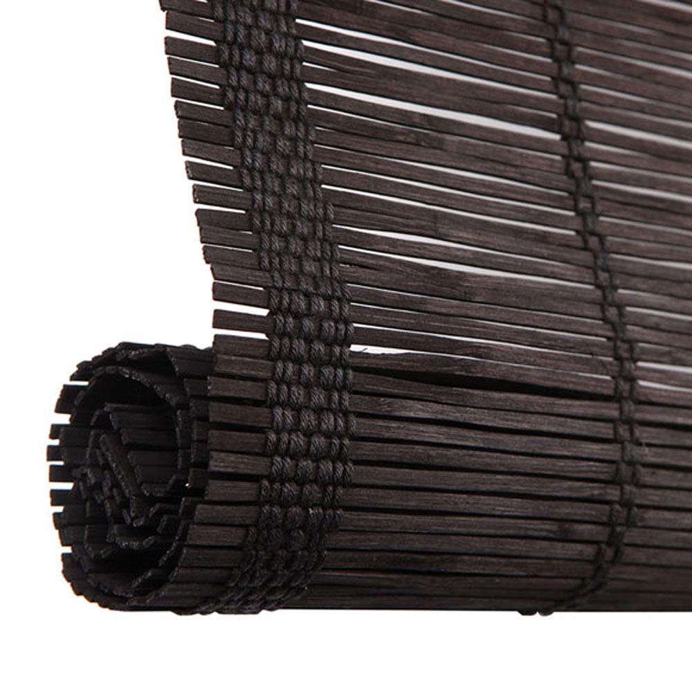 Estor enrollable bamb inspire negro ref 17368001 leroy - Estores de bambu para exterior ...