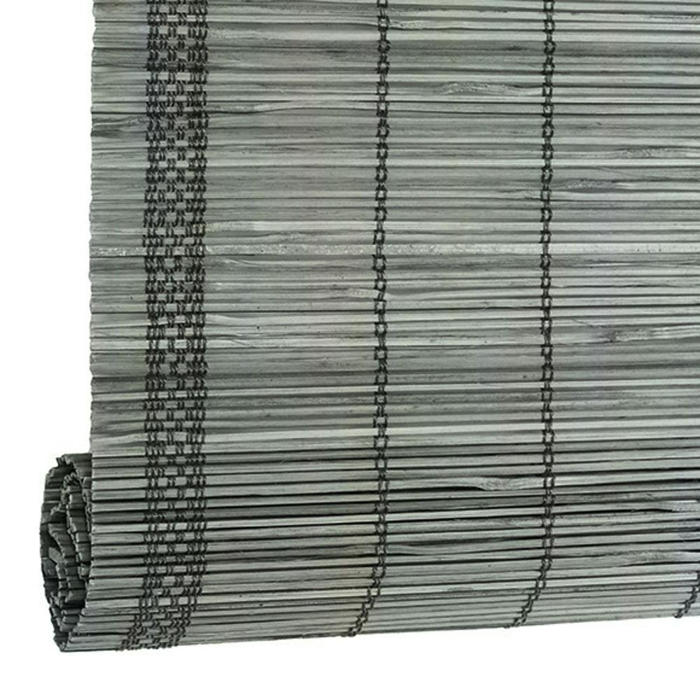 Estor enrollable bamb inspire verde piedra ref 16097214 - Leroy merlin estores bambu ...