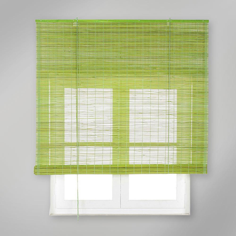 Estor enrollable bamb inspire verde pistacho ref - Canas de bambu decorativas leroy merlin ...