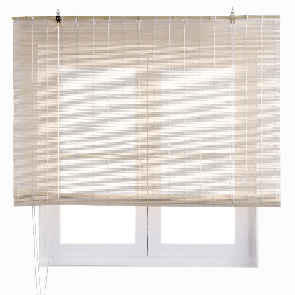 Estor enrollable bamb salinas beige ref 15354290 leroy - Cuadros para dormitorios leroy merlin ...
