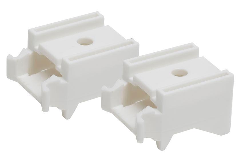 Soportes kit universal blanco ref 12919431 leroy merlin - Soporte para estores ...