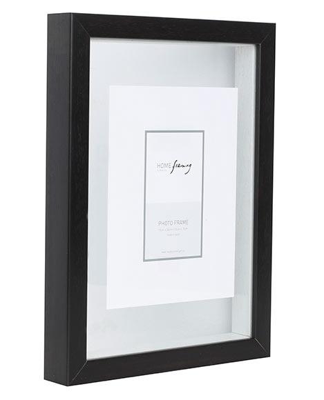 marco con doble cristal 21 x 29 7 cm cristal negro ref