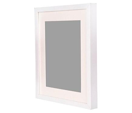 Cuadro de 30 x 40 cm milo blanco marco ref 19413345 - Enmarcar cuadros leroy merlin ...