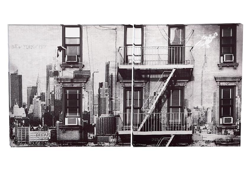 Pack 2 canvas 70 x 70 cm urban nyc ref 17291792 leroy merlin - Canvas tuin leroy merlin ...