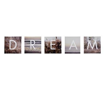 Set de 5 canvas 30 x 30 cm dream 30x30 ref 17853241 leroy merlin - Canvas leroy merlin ...