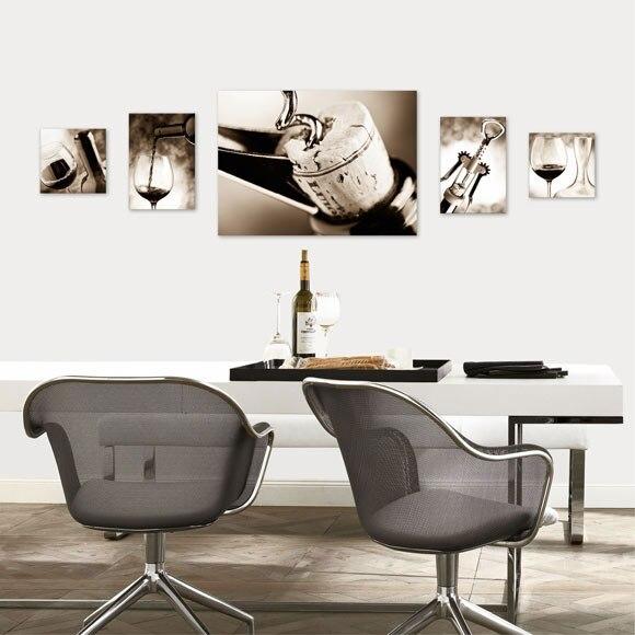 Set de 5 canvas 50 x 67 cm vino ref 17930031 leroy merlin - Canvas tuin leroy merlin ...