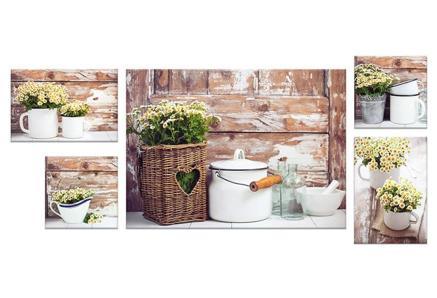 Set de 5 canvas 50 x 67 cm flores ref 17930052 leroy merlin - Canvas tuin leroy merlin ...