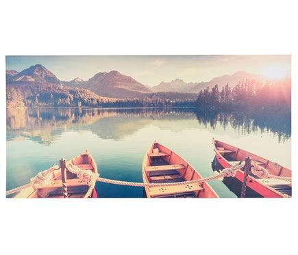 Canva 60 x 120 cm botes lago ref 19400234 leroy merlin - Enmarcar cuadros leroy merlin ...