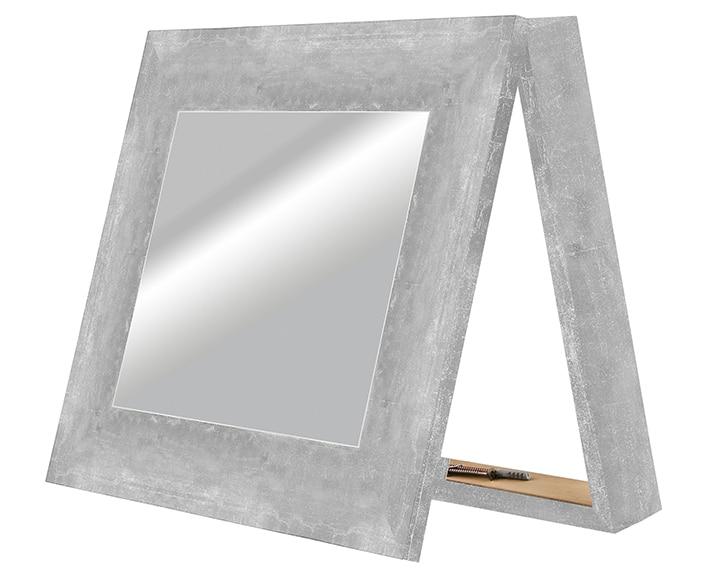 Espejo decorativo contador plata 36x42cm ref 16737014 - Marcos a medida leroy merlin ...