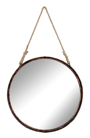 espejo decorativo redondo cuerda cobre 52x54cm ref