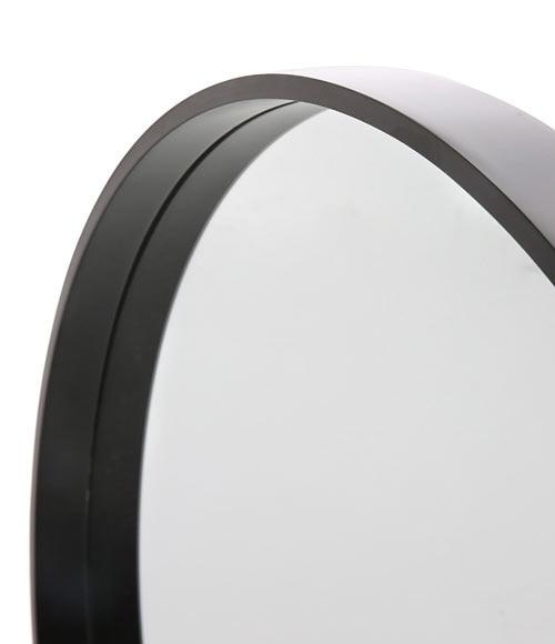 Espejo decorativo redondo negro ref 17963946 leroy merlin for Espejo redondo negro