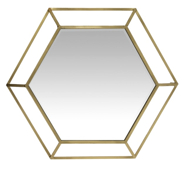 Espejo decorativo double hex gono metal 81x81cm ref - Espejos decorativos leroy merlin ...
