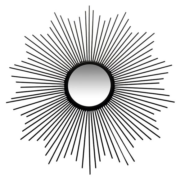 espejo decorativo sol negro xcm
