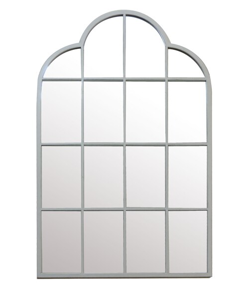 Espejo decorativo ventana blanco 73x119cm ref 19443795 for Espejos de pared leroy merlin