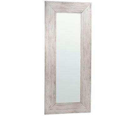 Espejo decorativo rustic blanco madera 140x40cm ref - Espejos decorativos leroy merlin ...