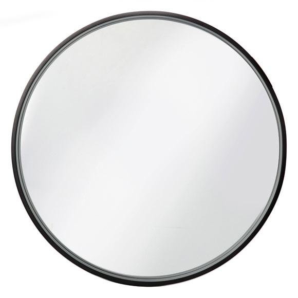 espejo decorativo redondo negro ref 17963946 leroy merlin