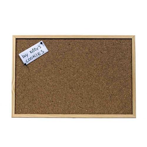 Pizarra corcho natural 2 caras 60 x 40 cm ref 14479591 for Placas de corcho para paredes