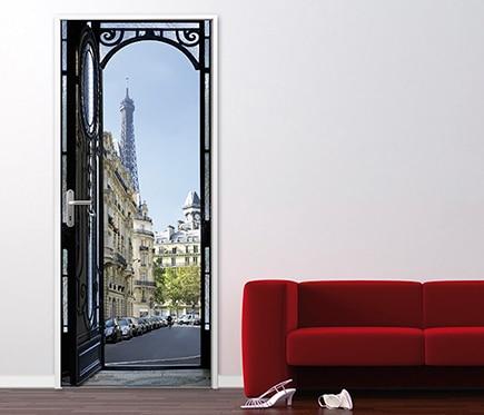 Vinilo para puerta paris ref 16776333 leroy merlin - Vinilos para puerta ...