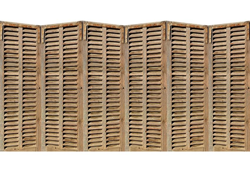 Vinilo para cabecero biombo madera ref 16776515 leroy - Cabecero con laminas de madera ...