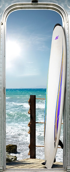 Vinilo para puerta STICKER PUERTA TABLA SURF Ref. 17423336 - Leroy ...